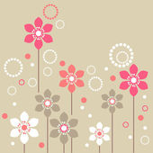 Stylized flowers — Stock Vector
