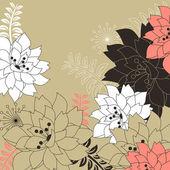 Sfondo floreale con fiori stilizzati — Vettoriale Stock