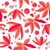 Seamless mönster med vårblommor — Stockvektor