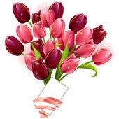 Montón de tulipanes — Vector de stock