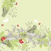 άνευ ραφής οριζόντιας λουλουδάτο μοτίβο παστέλ — Διανυσματικό Αρχείο
