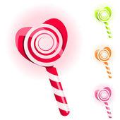 Set of lollypops — Stock Vector
