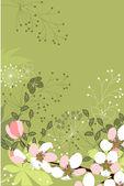 Fondo floral con flores estilizadas — Vector de stock
