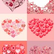 Royalty-Free Stock Vector Image: Set of different hearts