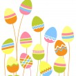 Royalty-Free Stock Vector Image: Growing easter eggs
