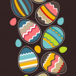 Seamless vertical easter pattern with eggs — Stock Vector