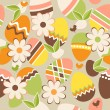 Stock Vector: Seamless easter pattern with eggs