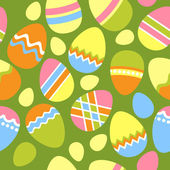Seamless easter pattern with eggs — Stock Vector