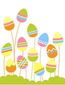 Growing easter eggs — Stock Vector