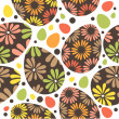 Seamless easter pattern with eggs - Stock Vector