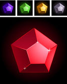 Collection of stylized gems — Stock Vector