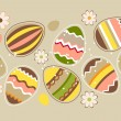Royalty-Free Stock Imagem Vetorial: Seamless horizontal easter pattern with eggs