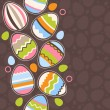 Greeting card wirh easter eggs — Stock Vector #5052991