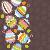Greeting card wirh easter eggs — Stock Vector