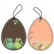 Set of easter tags — Stock Vector #5079201
