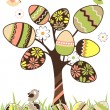 Royalty-Free Stock Vector Image: Easter tree