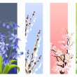 Collection of spring flowers — ストックベクタ