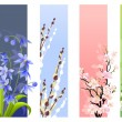Collection of spring flowers — Stockvectorbeeld