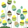 Growing easter eggs — Stock Vector