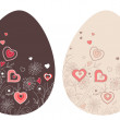 Two easter eggs — Stock Vector