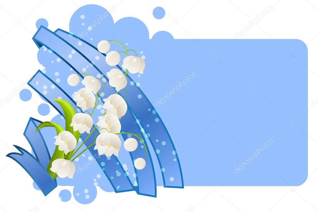 Blank card with lilies of the valley  Stock Vector #5222360