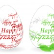 Easter eggs made of &quot;Happy easter&quot; phrase - Stock Vector