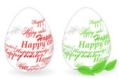 "Easter eggs made of ""Happy easter"" phrase — Stock Vector"