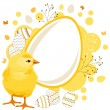 Easter greeting card with eggs — Stock Vector #5358942