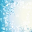Stylish background with snowflakes — Stock Vector