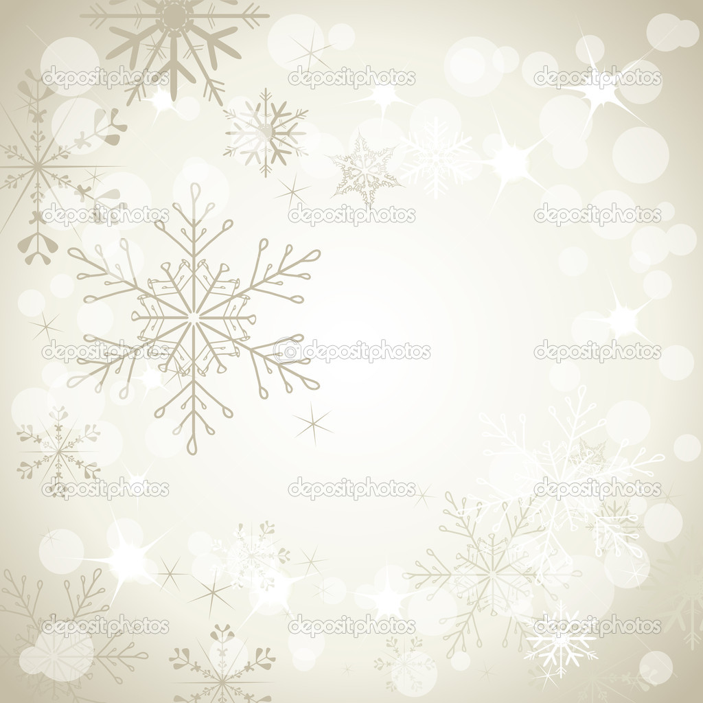 Stylish background with snowflakes — Stock Vector #4519792