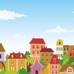 Cartoon urban scene — Stock Vector #5296726