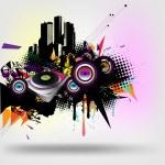 vettore urbano di musica — Vettoriale Stock