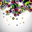 Abstraction 3d background - Vettoriali Stock