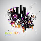 Music urban vector — Stock Vector