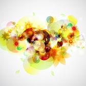 黄色の花の背景 — ストックベクタ