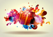 Christmas gifts. — Vector de stock