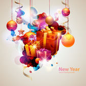 New year poster. — Stock Vector