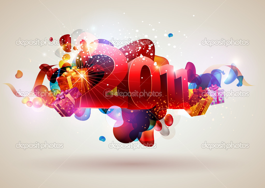 New year design — Stock Vector #4242565