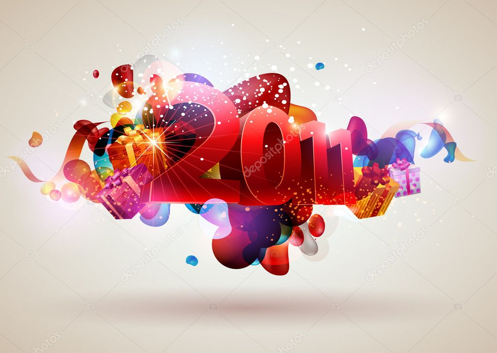 New year design  Imagen vectorial #4242565