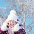 Girl in winter park — Stock Photo #4058537