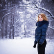 Girl in winter park — Stock Photo #4058608
