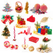 Christmas collection isolated on white — 图库照片