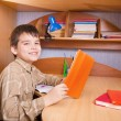 Boy with books - Foto Stock