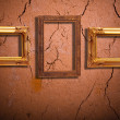 Golden frame on grunge background — Stock Photo #4388866