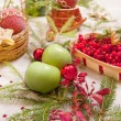 christmas table — Stock Photo