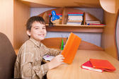 Boy with books — Stockfoto