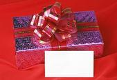 Prezent i kartki świąteczne — Zdjęcie stockowe