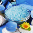 Stock Photo: Blue spand aromatherapy