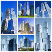 Collage of skyscrapers — Stock Photo