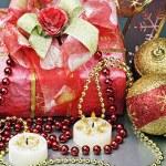 Christmas gift to the holiday — Stock Photo